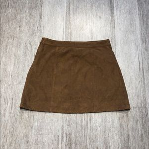 Abercrombie Tan Suede A Line Skirt